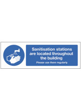 Sanitisation Stations are Located Throughout this Building
