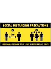 Social Distancing Precautions - Group Pictogram - Sign / Banner