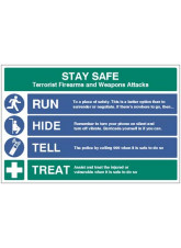 Stay Safe - Run - Hide - Tell - Treat
