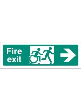 Inclusive Disabled Fire Exit Design - Arrow Right