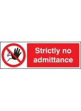 Strictly No Admittance