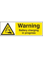 Warning Battery Charging in Progress