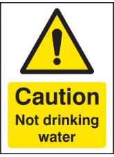 Caution Not Drinking Water