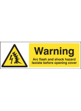Warning Arc Flash and Shock Hazard Isolate before Opening Cover