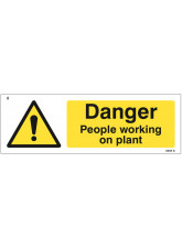 Danger People Working On Plant