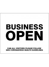 Business Open - Please follow NHS guidelines