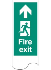 Door Plate - Fire Exit Straight On