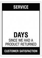 "Small Wipe Clean Board ""Service (Write Number) Days since a Product Return"""