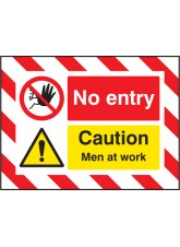 Door Screen Sign - No Entry Caution Men At Work