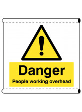 Scaffold Banner - Danger People Working Overhead