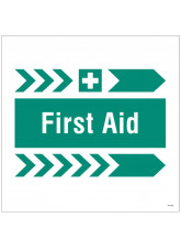 First Aid - Arrow Right - Site Saver Sign - 400 x 400mm