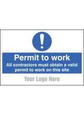 Permit to Work - Site Saver Sign - 600 x 400mm