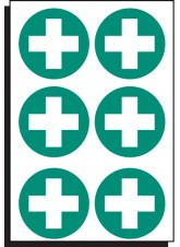 6 x First Aid Symbol - 65mm Diameter