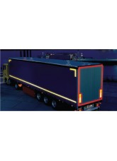 Yellow Lorry Marking Contour Tape - 51mm x 50m (Curtain Vehicle)