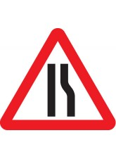 Fold Up Sign - Road Narrows Right Symbol 600mm Triangle Sign