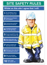 Site Safety Rules Whilst On Site I Agree to - 5mm PVC - 600 x 900mm