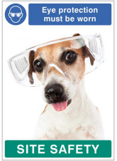 Eye Protection must be Worn - Dog Poster