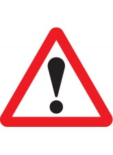 Fold Up Sign - Warning ! with Text Variant Options - 750mm Triangle