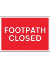 Footpath Closed Reflective Fold Up Sign