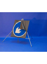 Keep Left / Right Reversible Arrow Reflective Fold up Sign