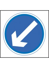 Keep Left / Right - Class RA1 - 750 x 750mm