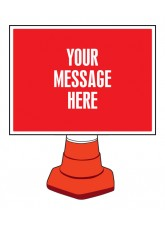 Rectangular Create Your Own Reflective Cone Sign