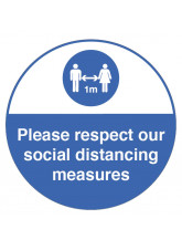 Respect Social Distancing Floor Graphic - 1m / 2m / Generic Distance Options