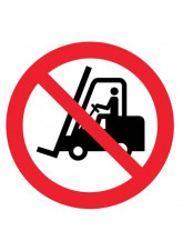 Floor Graphic - No Forklifts Symbol