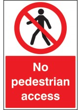 No Pedestrian Access - Floor Graphic