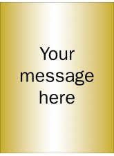Design Your Own Brushed Brass Effect Sign - 150 x 200mm