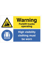 Floor Graphic - Warning Forklifts Operating - Hi-vis Clothing must be Worn