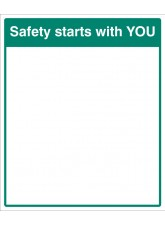 Mirror Message - Safety Starts with You 405 x 485mm