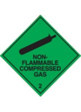 Roll of 100 Non-Flammable Compressed Gas 2 Labels - 100 x 100mm