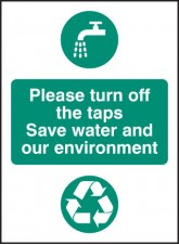Please Turn Off the Taps - Self Adhesive Vinyl Water and Environment