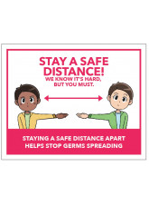 Cartoon - Stay a Safe Distance