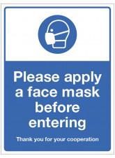 Apply a Face Mask before Entering