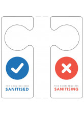 Sanitised / Requires Sanitising Door Hanger